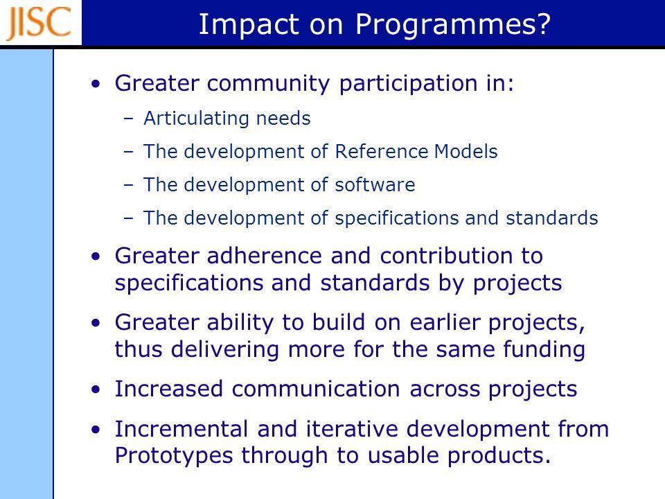Impact on Programmes.