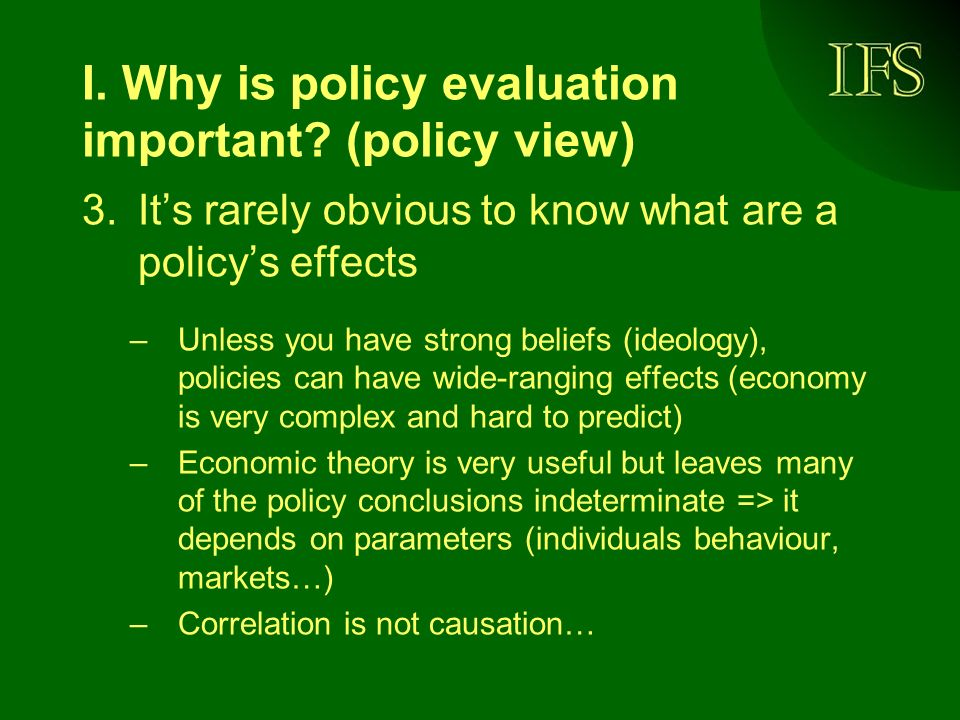 I.Why is policy evaluation important.
