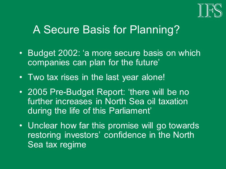 A Secure Basis for Planning.