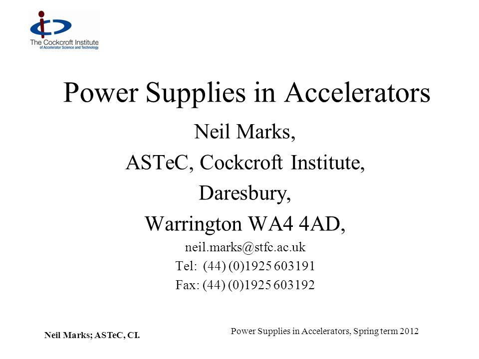 Neil Marks; ASTeC, CI.