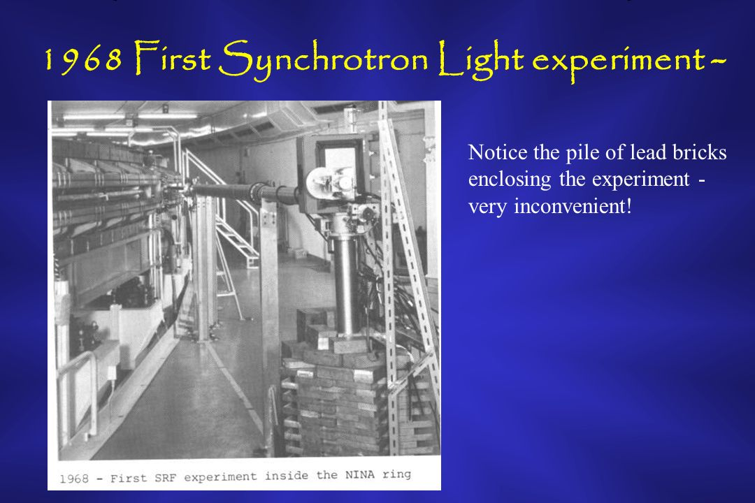 1972 Two Beams into the Dedicated Synchrotron Light Facility Mike and John West in the SRF