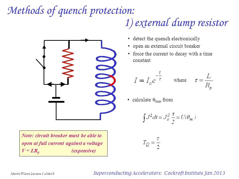 Martin Wilson Lecture 3 slide15 Superconducting Accelerators: Cockroft Institute Jan 2013 Computer simulation of quench temperature rise pole block 2n