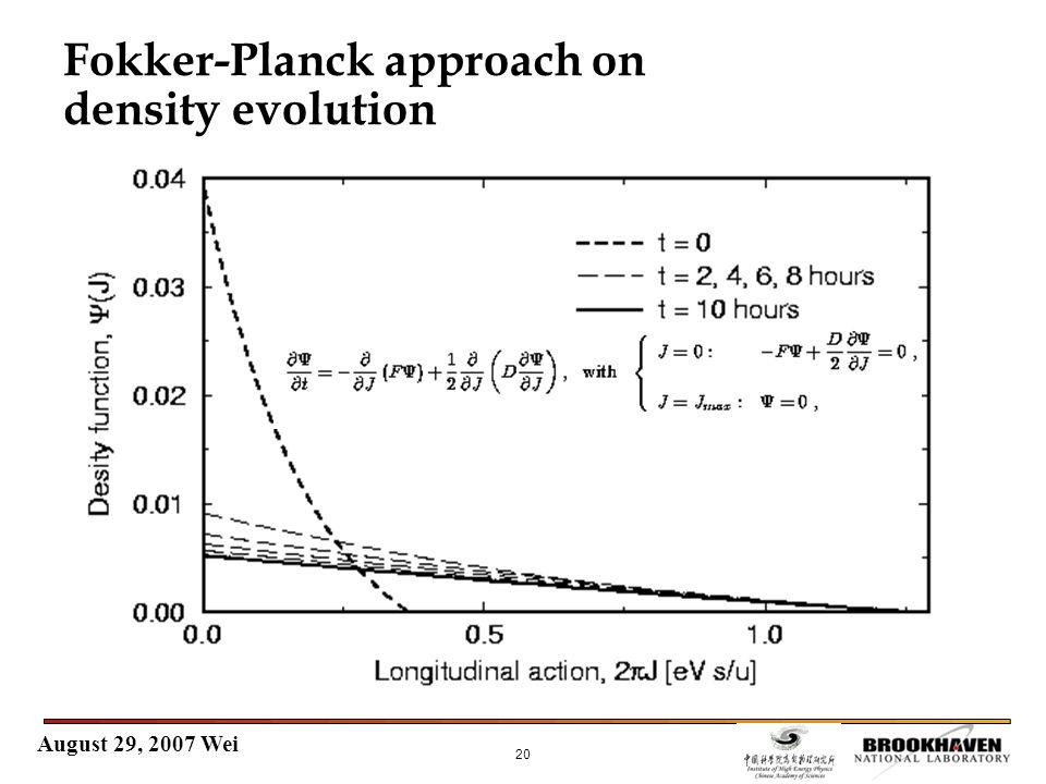 August 29, 2007 Wei 20 Fokker-Planck approach on density evolution