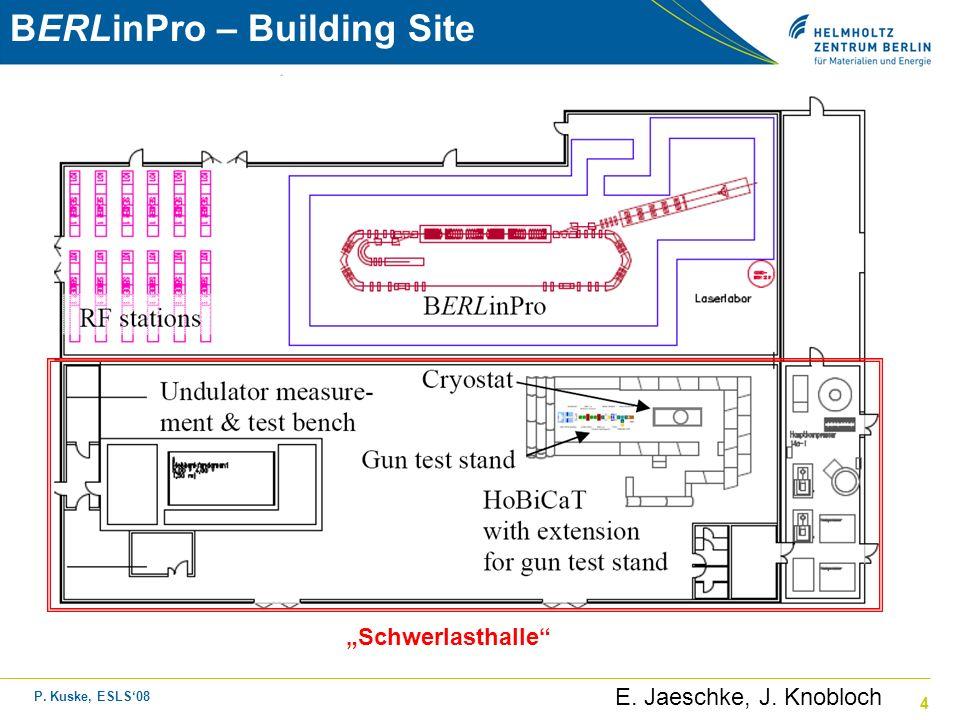 P. Kuske, ESLS08 4 Schwerlasthalle E. Jaeschke, J. Knobloch BERLinPro – Building Site