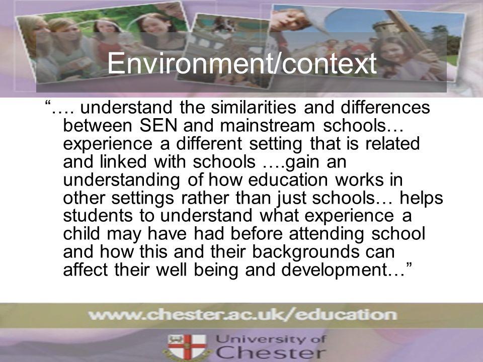 Environment/context ….