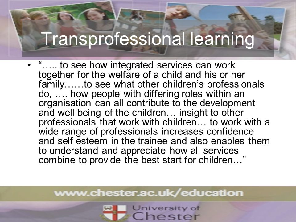 Transprofessional learning …..