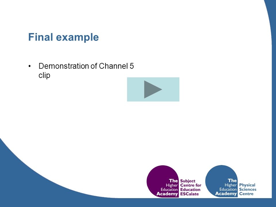 Final example Demonstration of Channel 5 clip