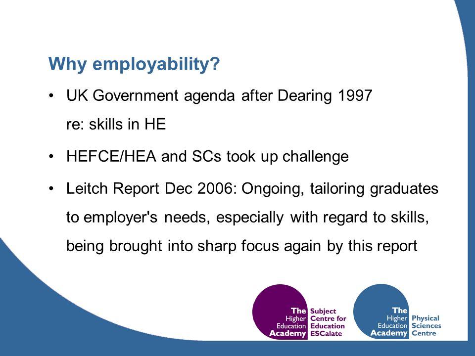 Why employability.
