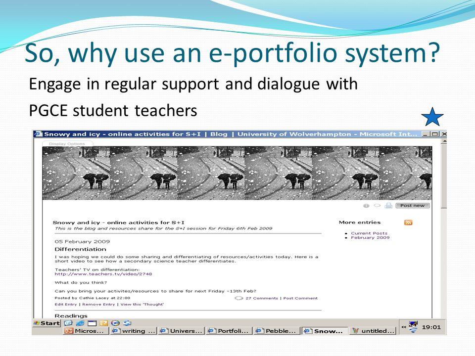 Current students webfolios Student A Student B Student C