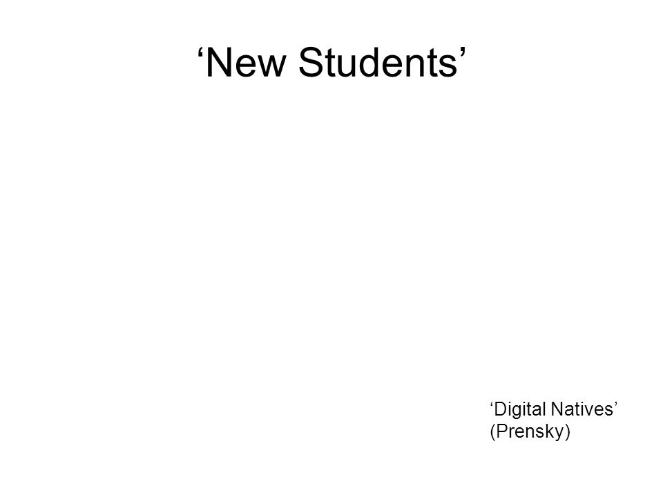 New Students Digital Natives (Prensky)