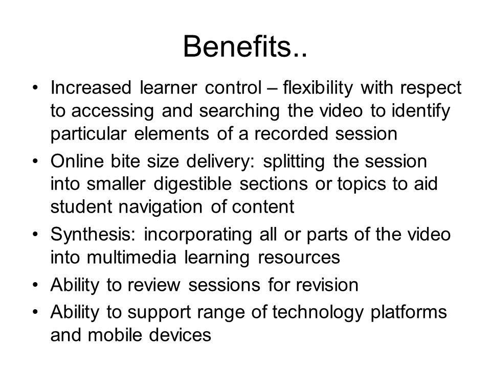 Benefits..