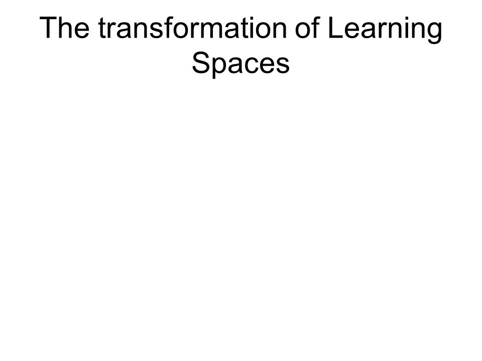 The transformation of Learning Spaces