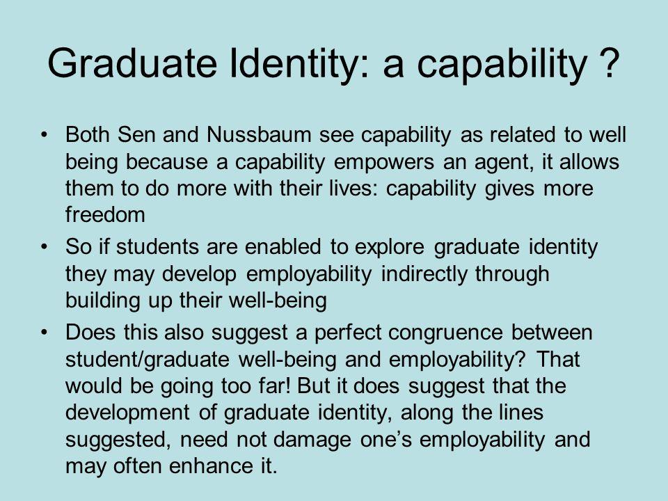 Graduate Identity: a capability .