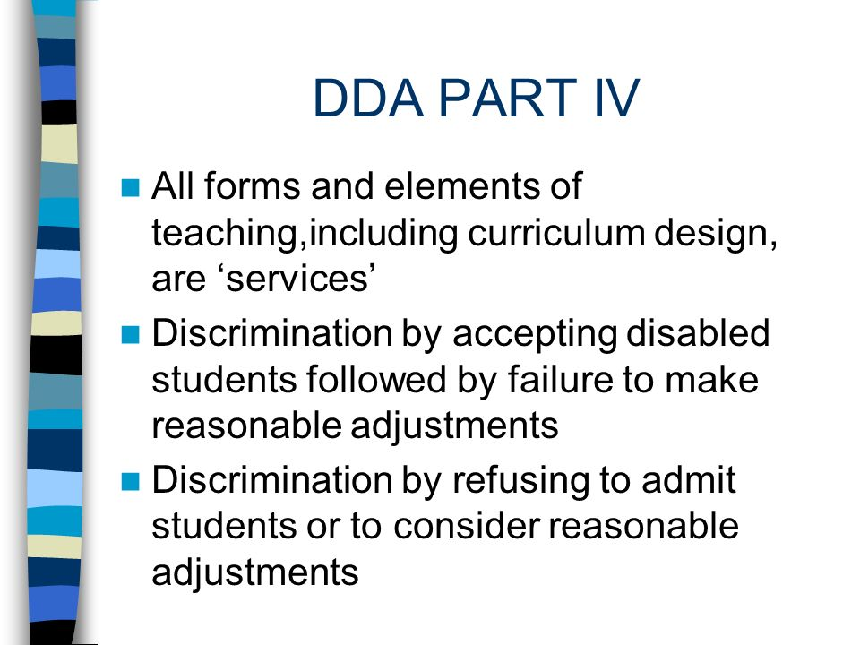 DDA PART IV Reasonable Adjustments are anticipatory Training for Staff is a defence