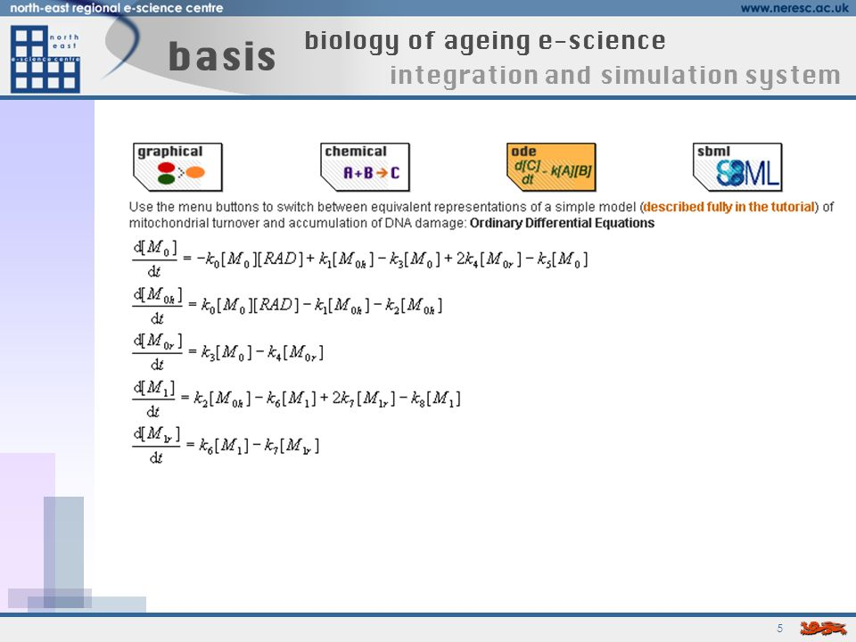 5 basis biology of ageing e-science integration and simulation system
