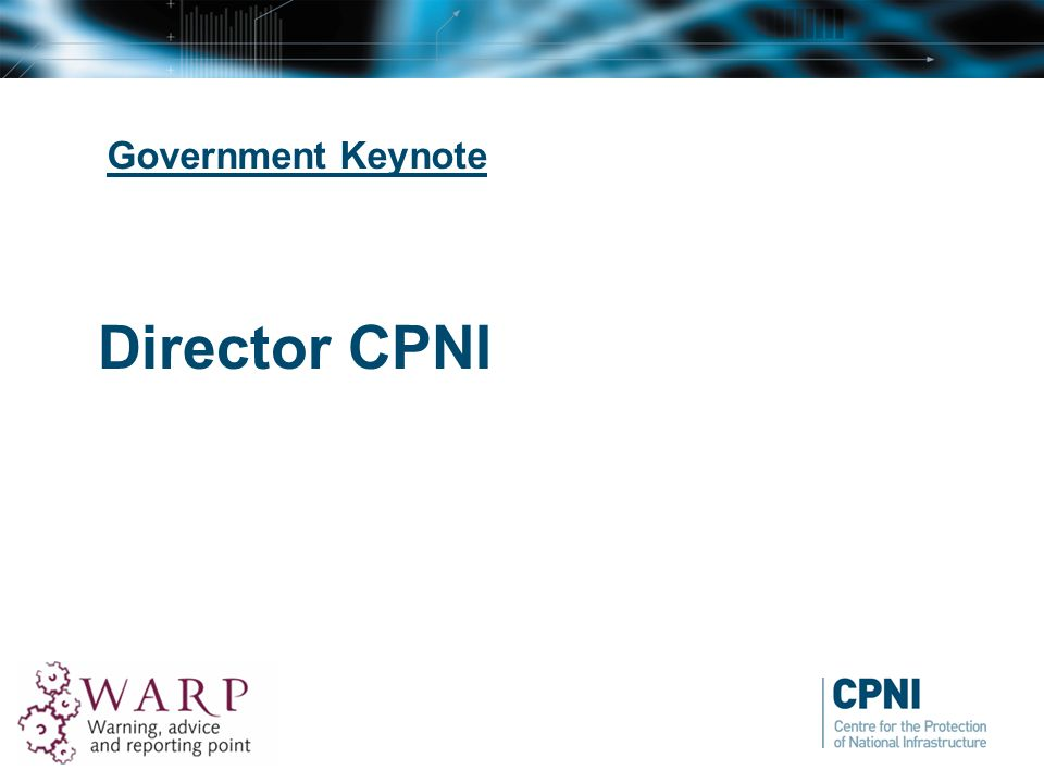 Government Keynote Director CPNI