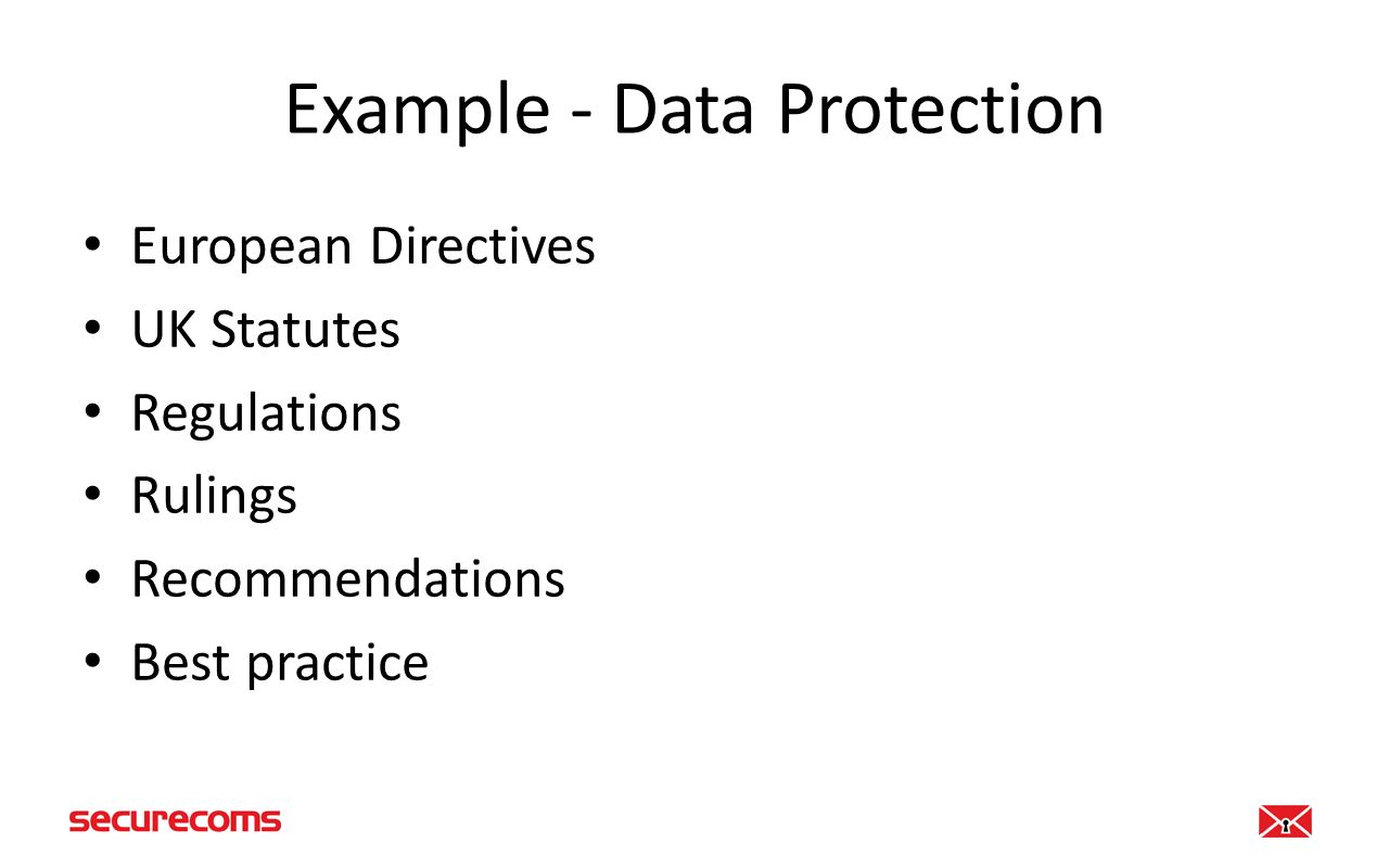 Data Protection Act Eight Principles If you possess personal information you must ensure information is: – Fairly and lawfully processed – Processed for limited purposes – Adequate, relevant and not excessive – Accurate and up to date – Not kept for longer than is necessary – Processed in line with your rights – Secure – Not transferred to other countries without adequate protection
