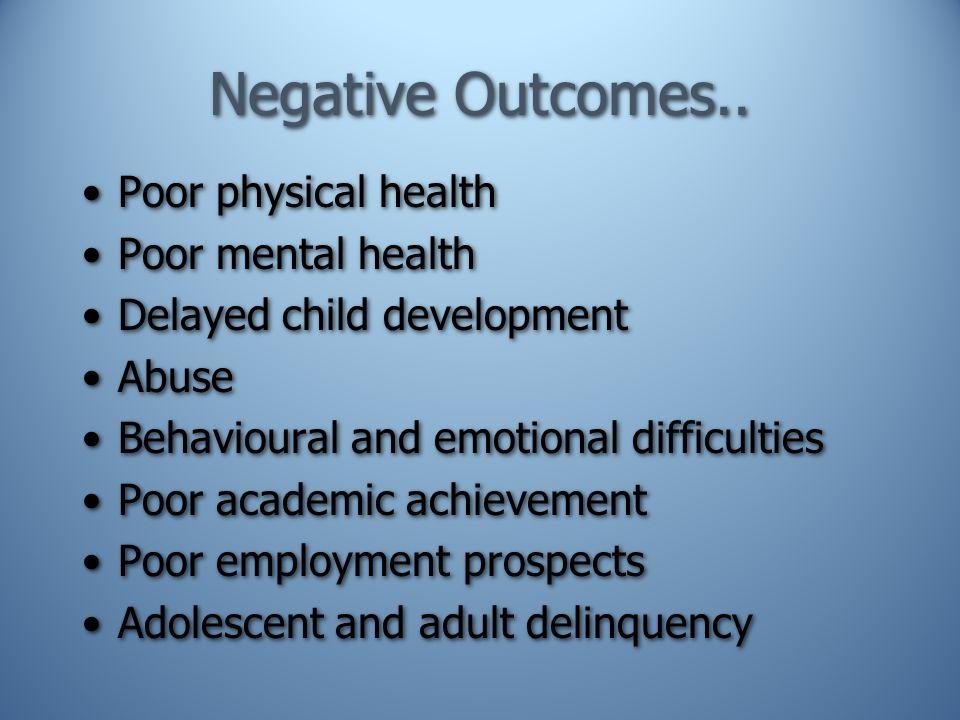 Negative Outcomes..
