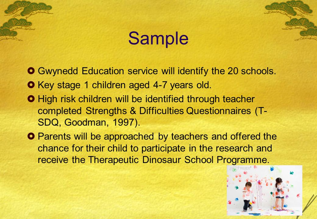 Sample Gwynedd Education service will identify the 20 schools.