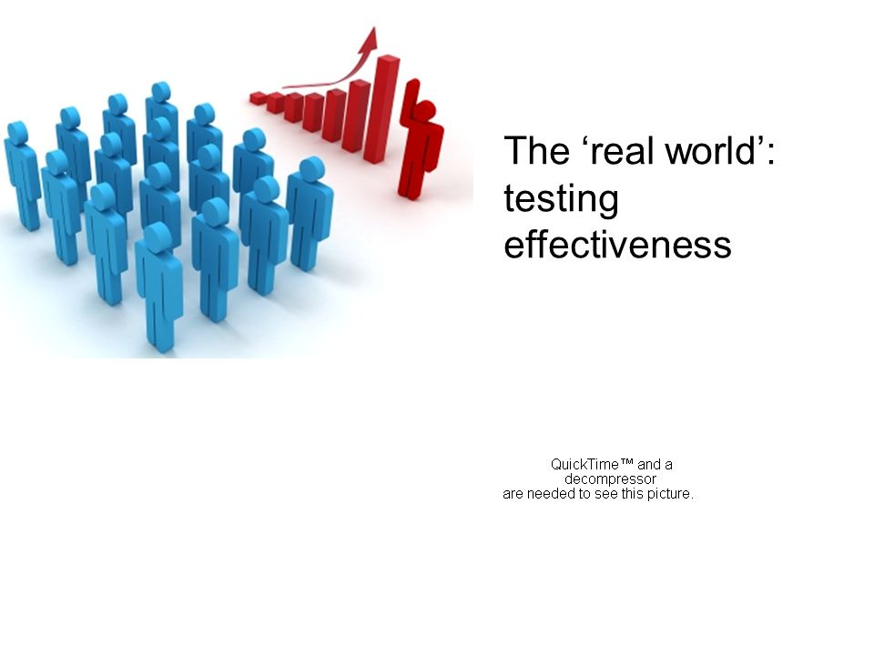The real world: testing effectiveness