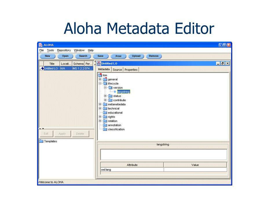 Aloha Metadata Editor