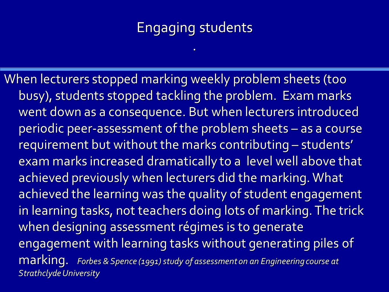 Engaging students.