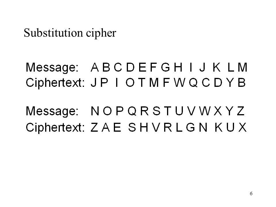 7 Substitution cipher 2 (using Brighton Rock)