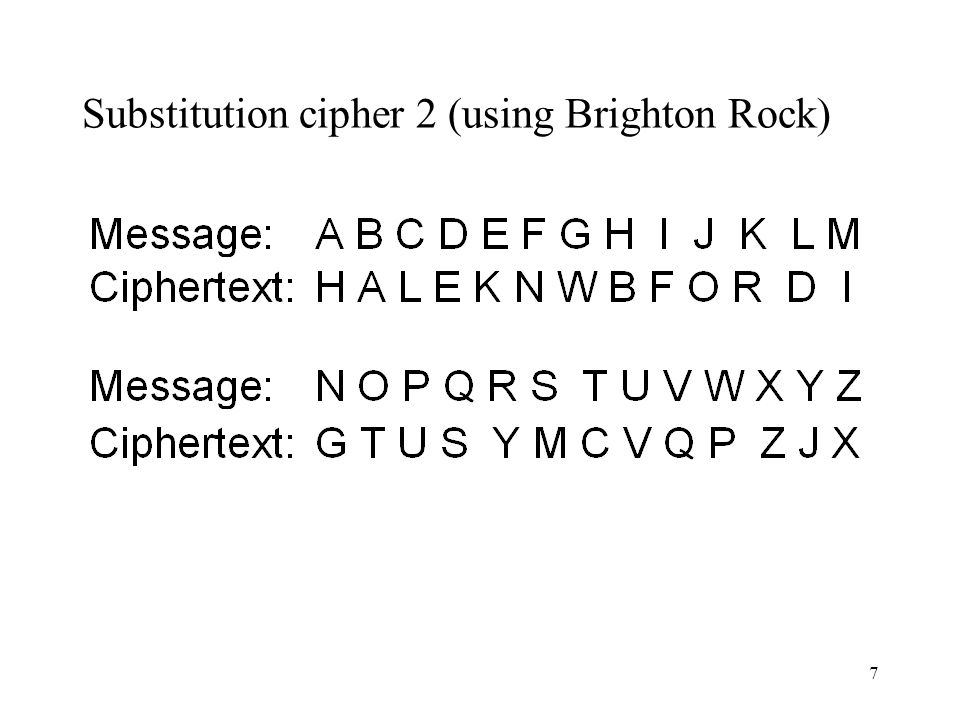 8 The Key One of the reasons for enciphering this text is to show the reader how easily this type of cipher can be broken…...