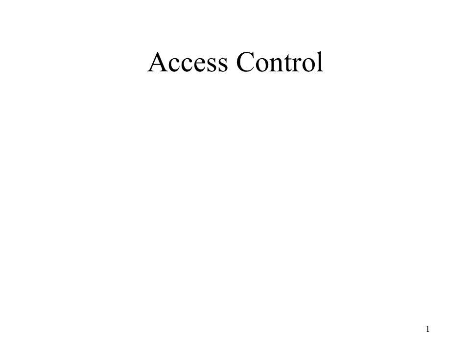 1 Access Control