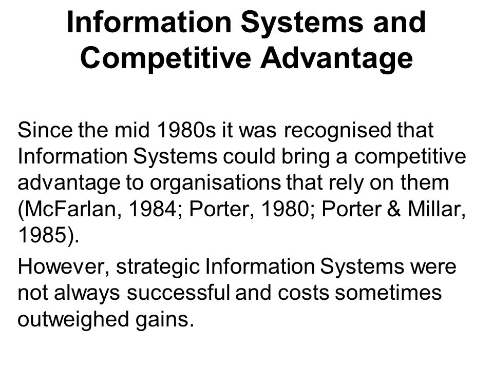 An example of an inter-organisational system is the Economost system by the McKesson Corporation.