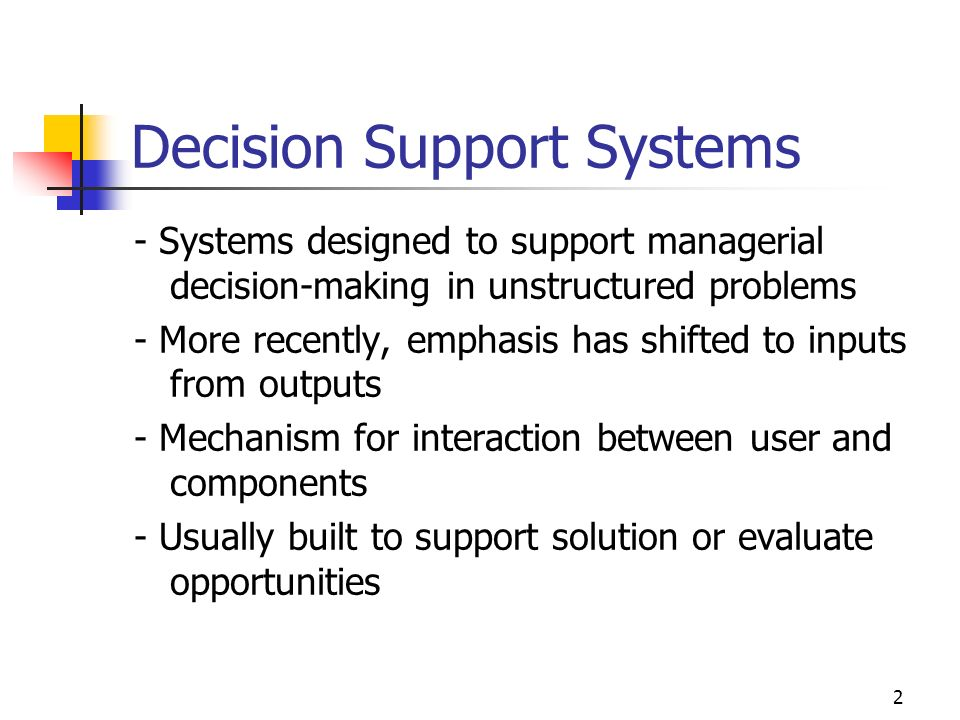 1 LECTURE 5 Amare Michael Desta Decision Support & Executive Information Systems: