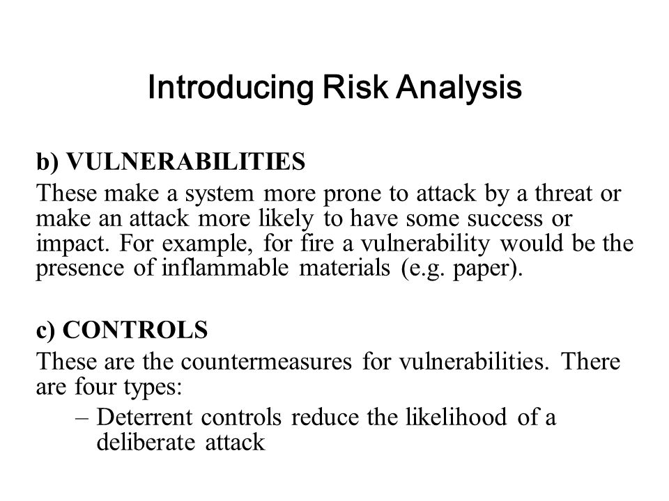 Qualitative Risk Analysis This is by far the most widely used approach to risk analysis. Probability data is not required and only estimated potential