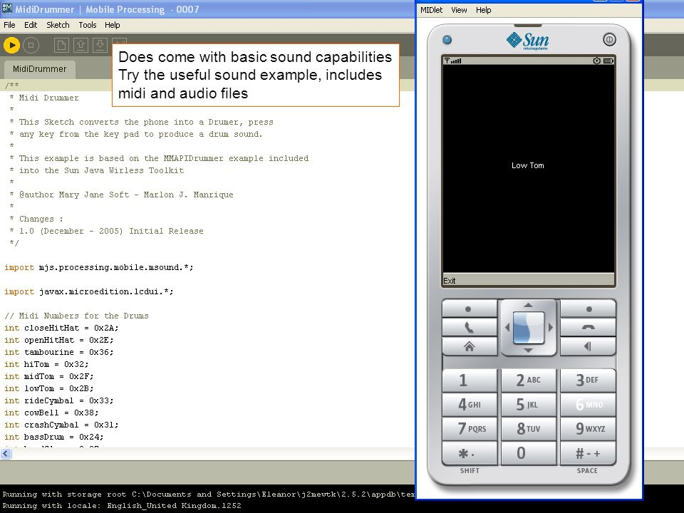 Does come with basic sound capabilities Try the useful sound example, includes midi and audio files