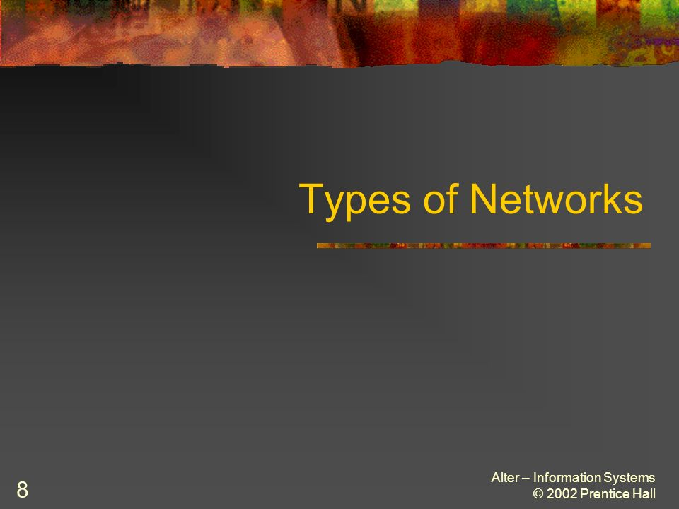 Alter – Information Systems © 2002 Prentice Hall 9 A Typical Home Network Figure 10.3