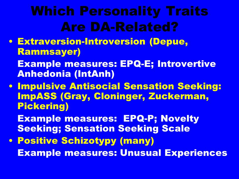 Which Personality Traits Are DA-Related.
