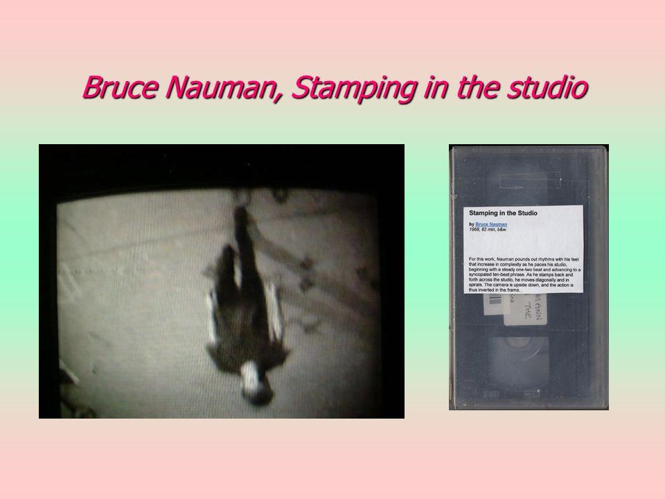 Bruce Nauman, Stamping in the studio