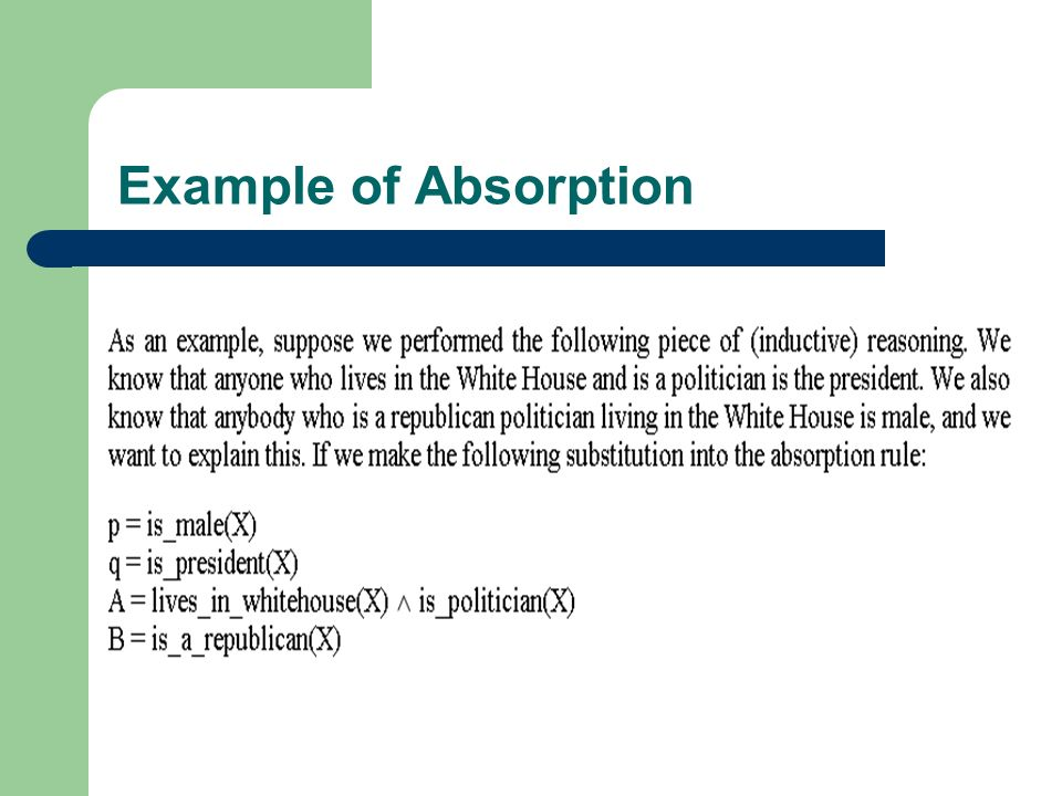 Example of Absorption