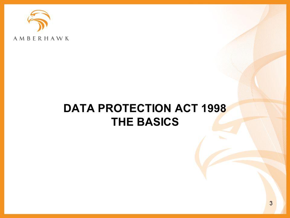 DATA PROTECTION ACT 1998 THE BASICS 3
