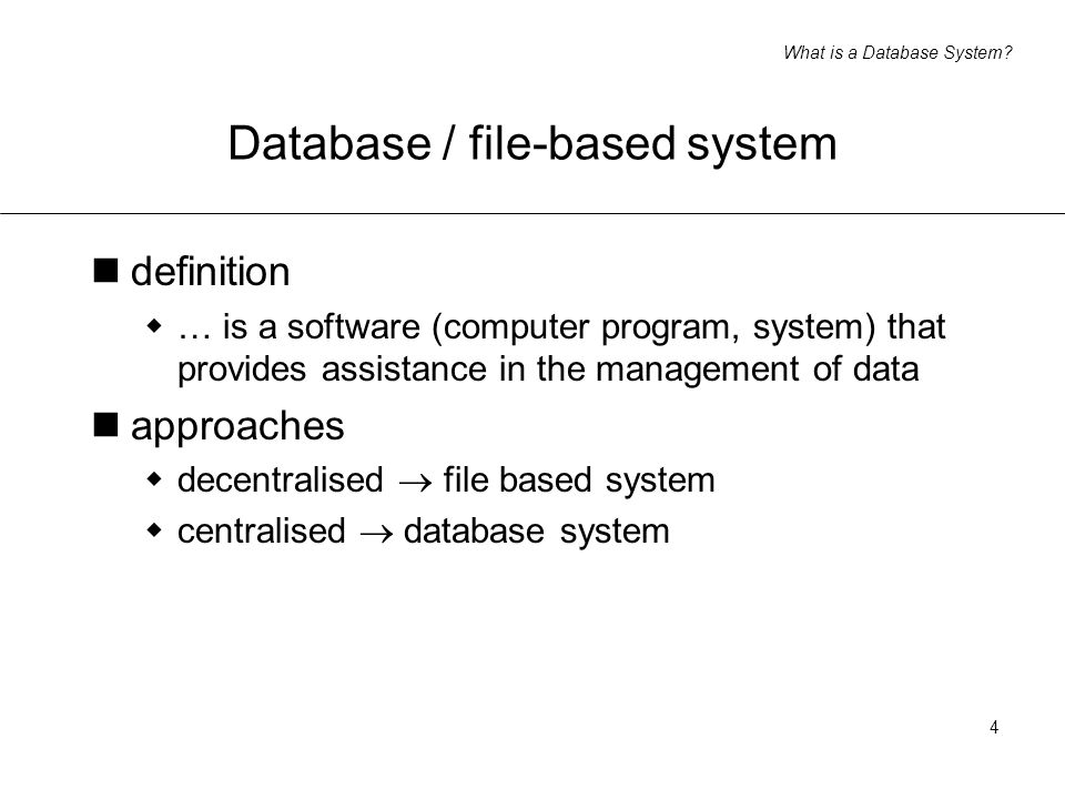What is a Database System.