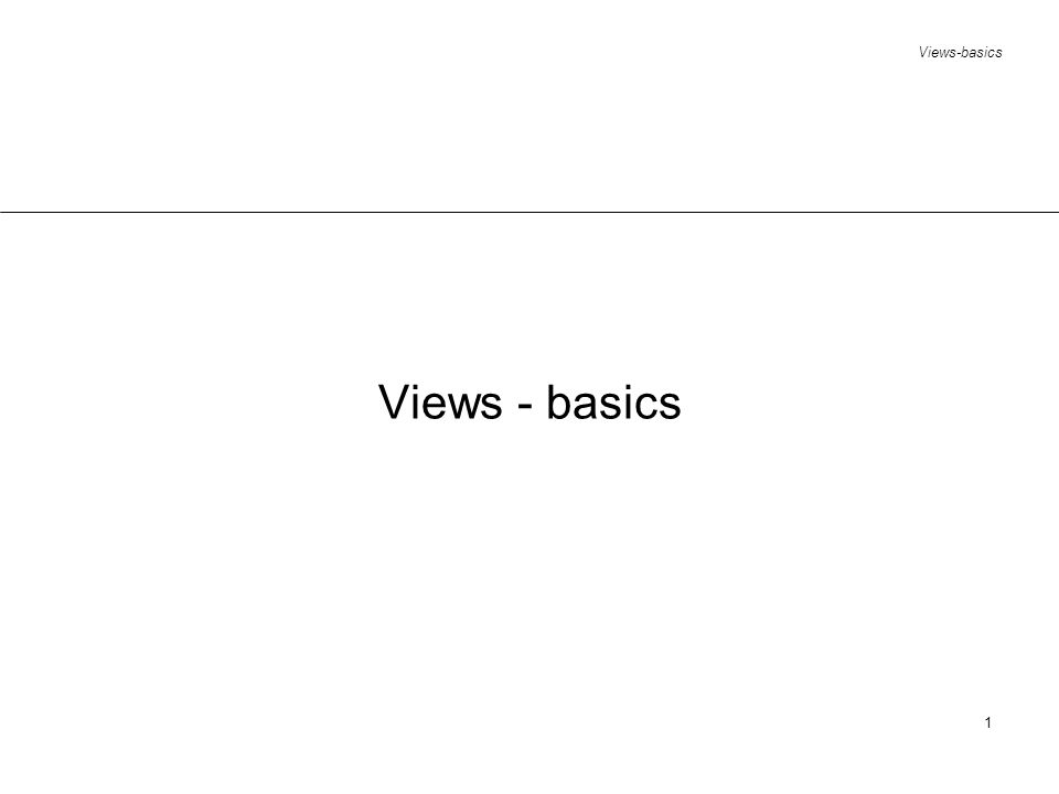 Views-basics 1