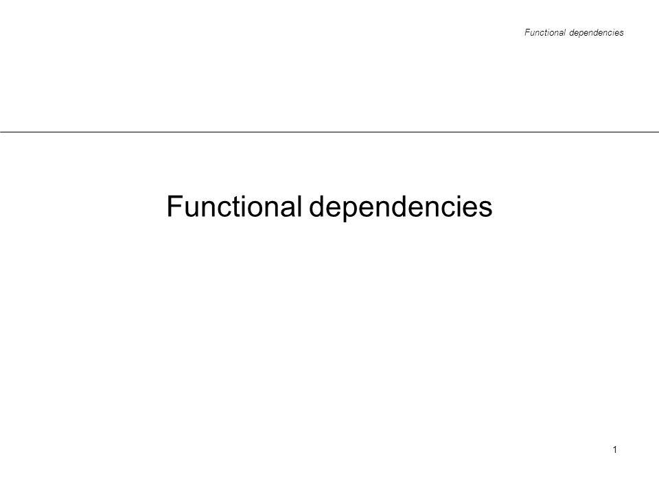 Functional dependencies 1