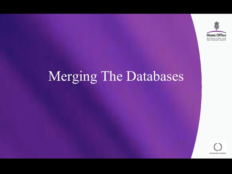 Merging The Databases