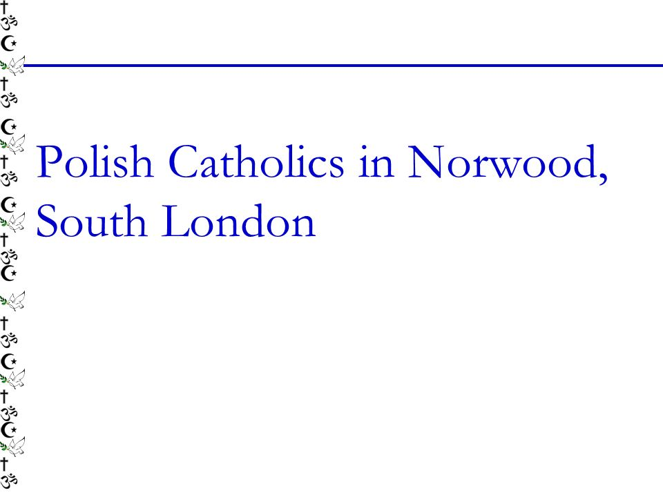 Polish Catholics in Norwood, South London