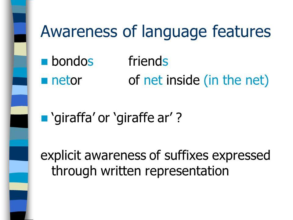 Awareness of language features bondosfriends netorof net inside (in the net) giraffa or giraffe ar .
