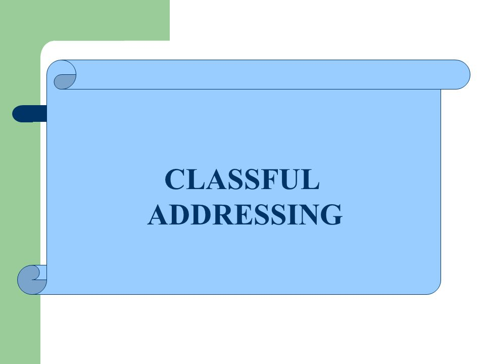 CLASSFUL ADDRESSING