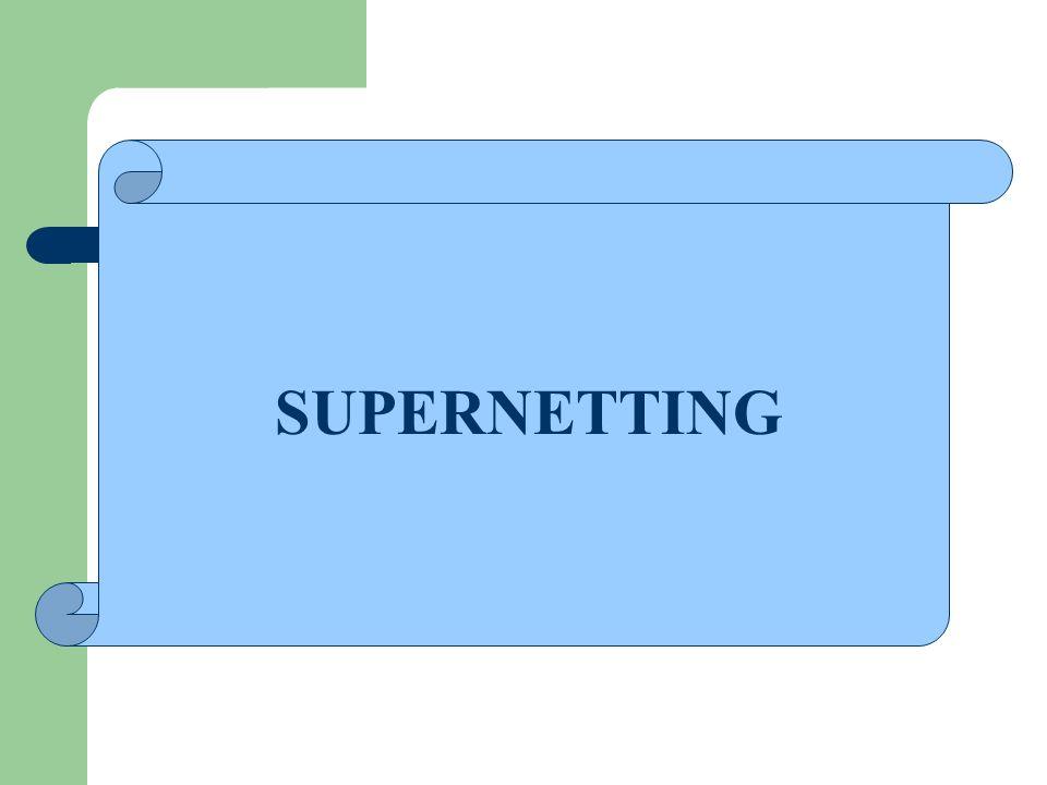 SUPERNETTING