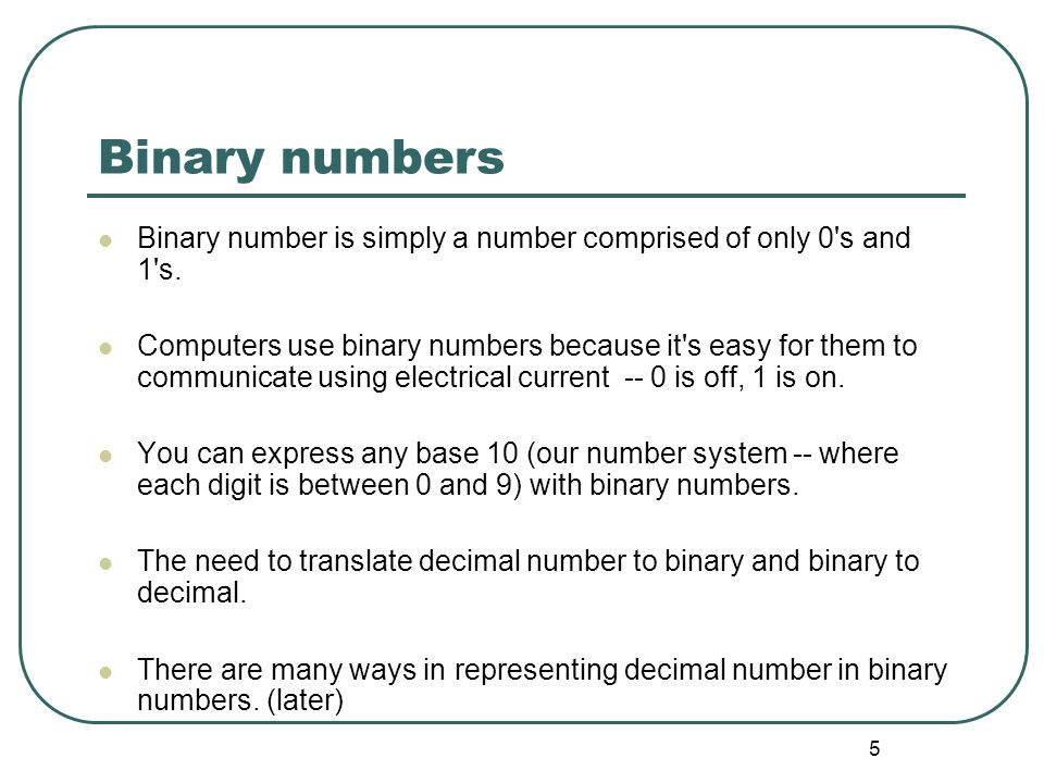 46 Basic Conversion Converting a decimal number to a floating point number.