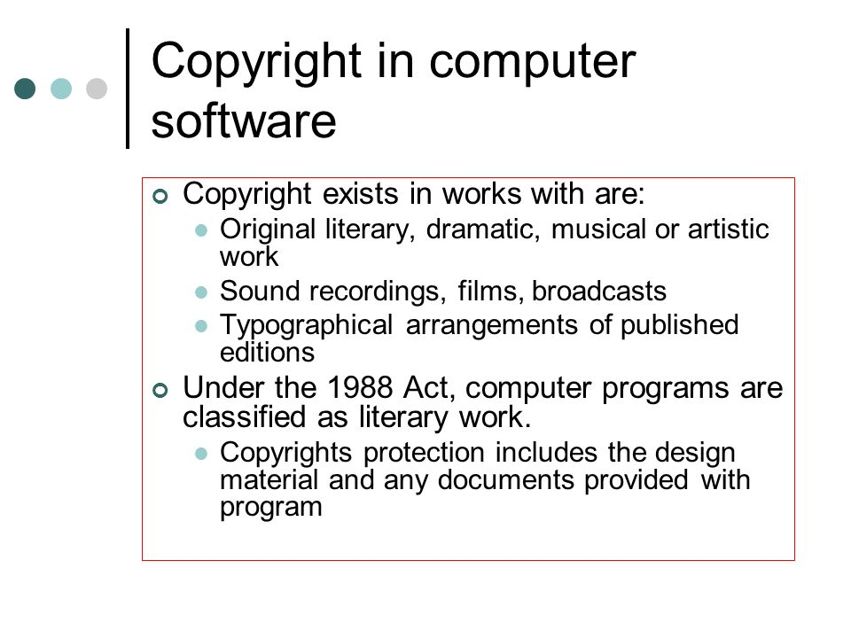 The Computer Misuse Act Covers: Unauthorised access to computer programs or data; Unauthorised access with a further criminal intent; Unauthorised modification of computer material (programs or data).