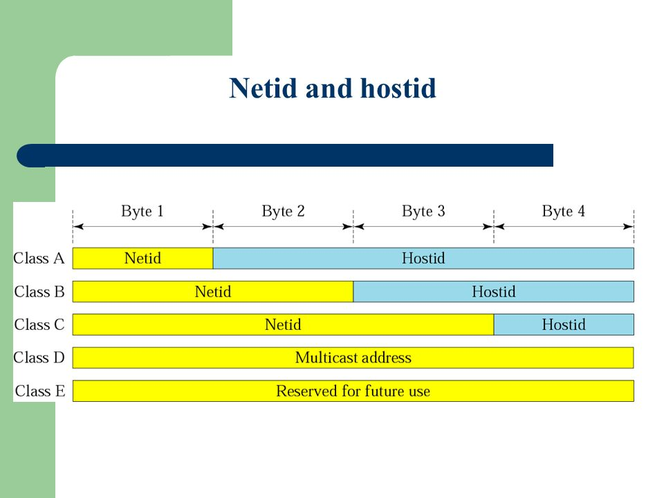 Figure 4-6 Netid and hostid