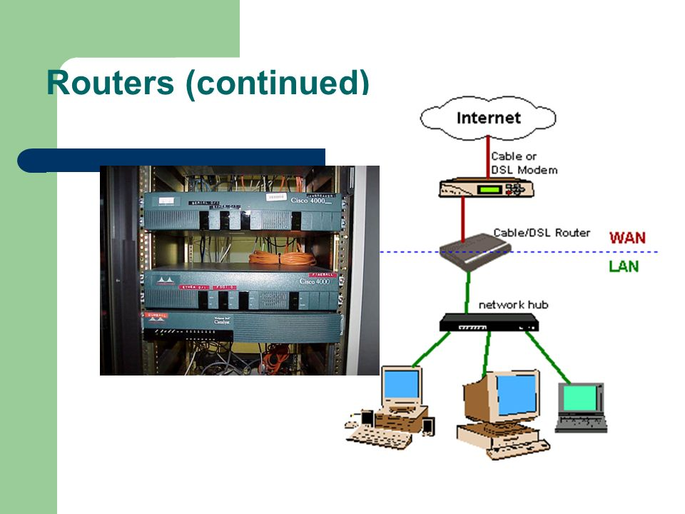 Routers (continued)